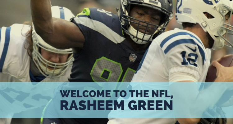 best service 6a135 111d0 Welcome to the NFL, Rasheem Green - Hawk Blogger